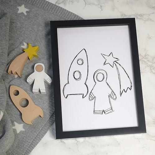 Space Doodle Print