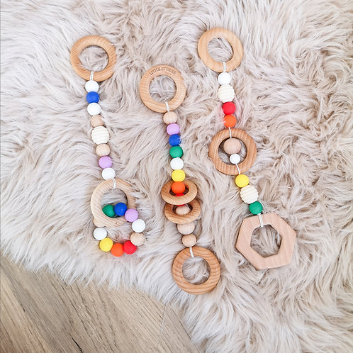 Set of 3 Primary Play Gym Charms