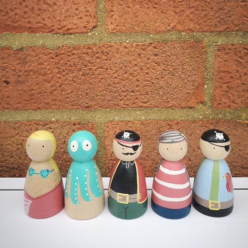 Little Stories x The Peg Basket Pirate Set