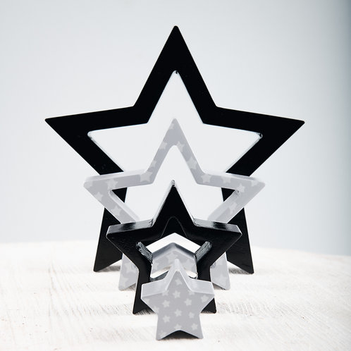 Space & Beyond Wooden Puzzle Stacking Star