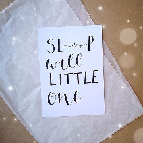 Sleep Well Print