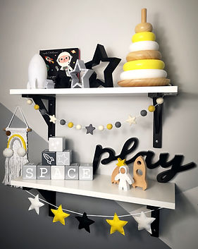 SPACE THEMED NURSERY WOODEN TOYS