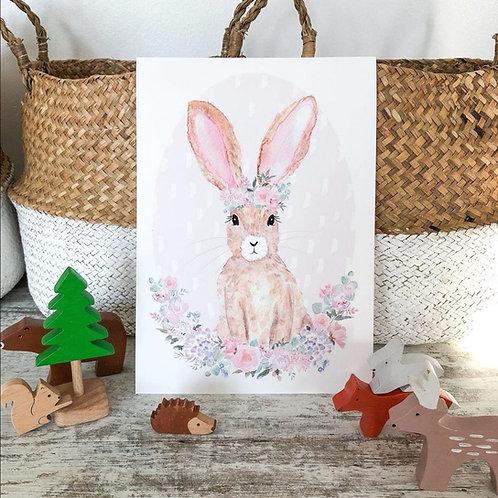Little Stories x Pop & Buds Bunny Print