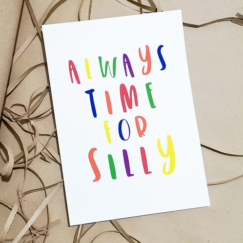 Little Stories x Pops & Buds CALM Charity Always Time For Silly Primary Print