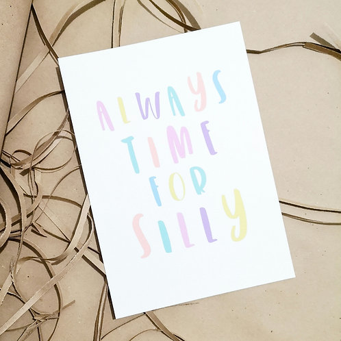 Little Stories x Pops & Buds CALM Charity Always Time For Silly Pastel Print