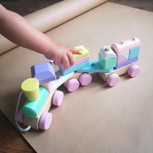 Perfect Pastels Wooden Train Set