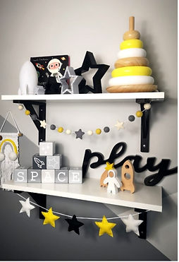 LITTLE STORIES SPACE THEMED NURSERY WOODEN TOY