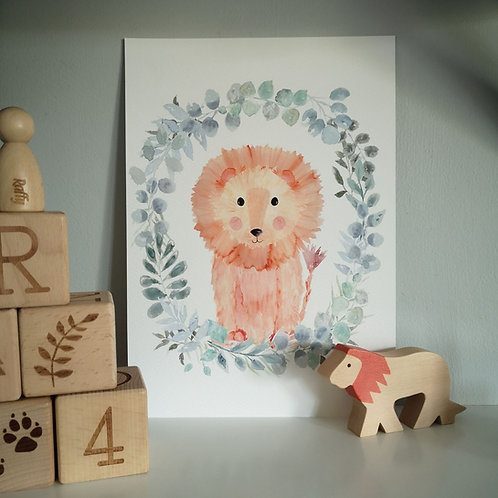 Little Stories x Pops and Buds Lion Print