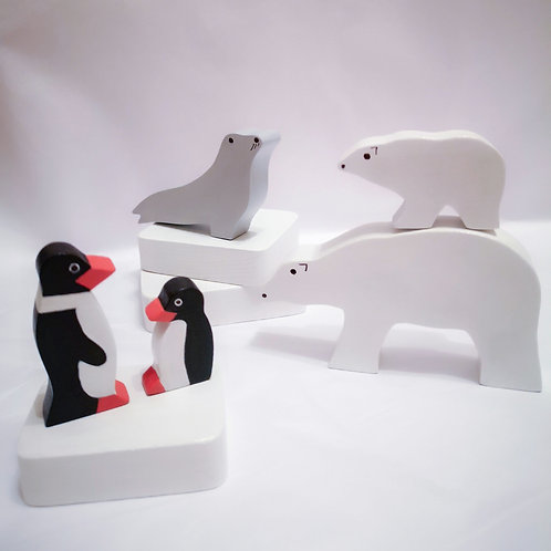 Arctic Adventure Wooden Toy Set