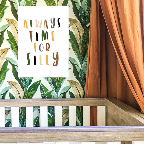 Little Stories x Pops & Buds CALM Charity Always Time For Silly Print