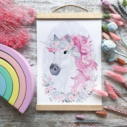 Little Stories x Pops & Buds Unicorn Print