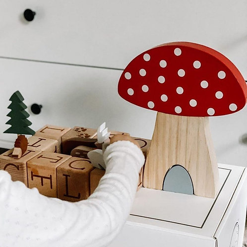 Woodland Friends Mushroom Puzzle Stacking Toy