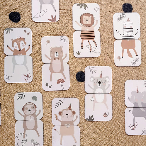 Little Stories x Paper & Bean Mix and Match Animal Card Game