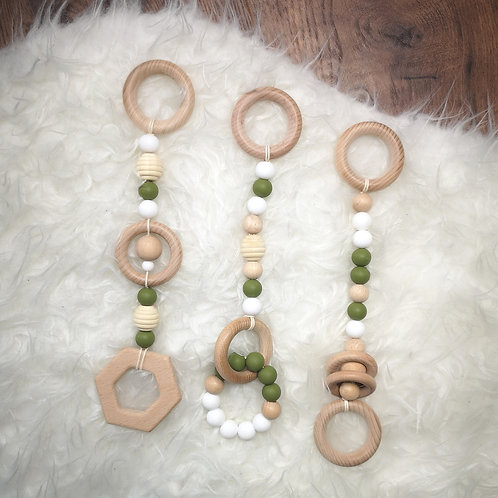 WOODEN PLAY GYM HANGING CHARM
