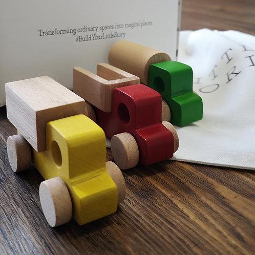 Set of 3 Wooden Toy Trucks