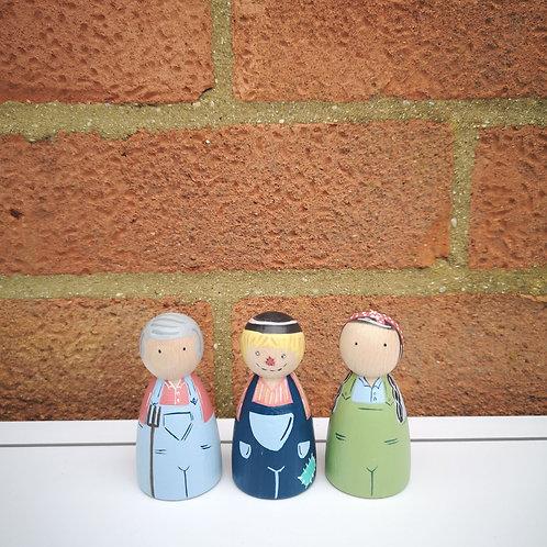Little Stories x The Peg Basket Farm Trio Set
