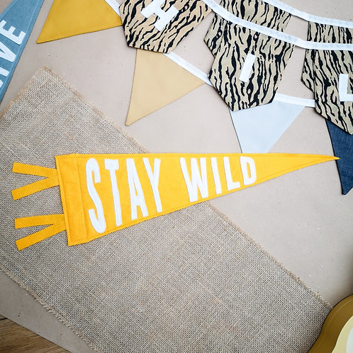 Little Stories Decor Stay Wild Pennant Flag
