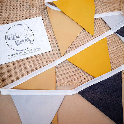 Little Stories Decor Triangle Fabric Bunting
