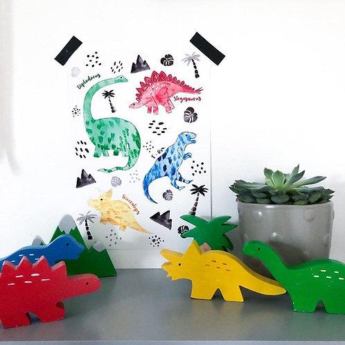 Little Stories x Pop & Buds Dinosaur Print