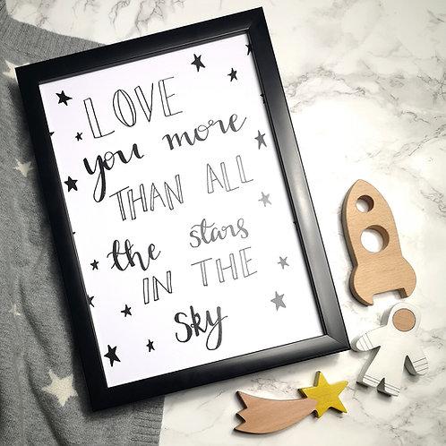 Love You More Print
