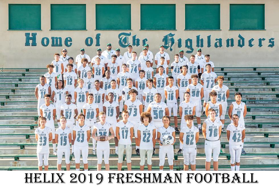 Helix 2019 Freshman Football Team Photos