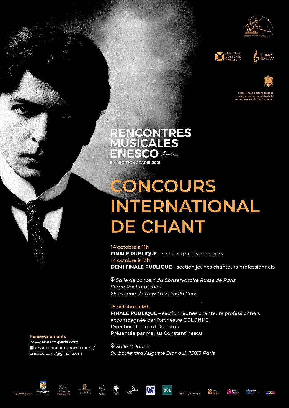 afis Concours de Chant _Rencontres Enesc