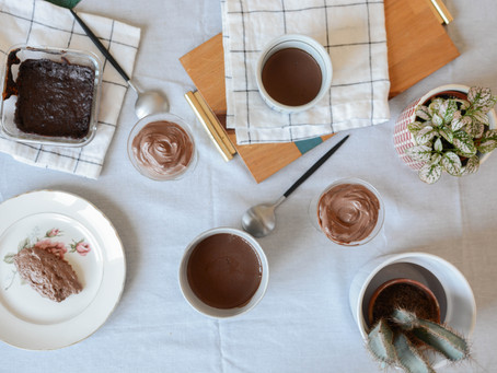- Recette - 6 crèmes et mousses au chocolat, vegan et sans sucre raffiné !