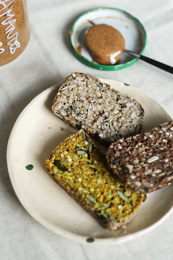 Pain sans gluten | Nature, chocolat, curcuma