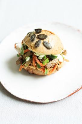 Primesautier | Burger vegan pad thai