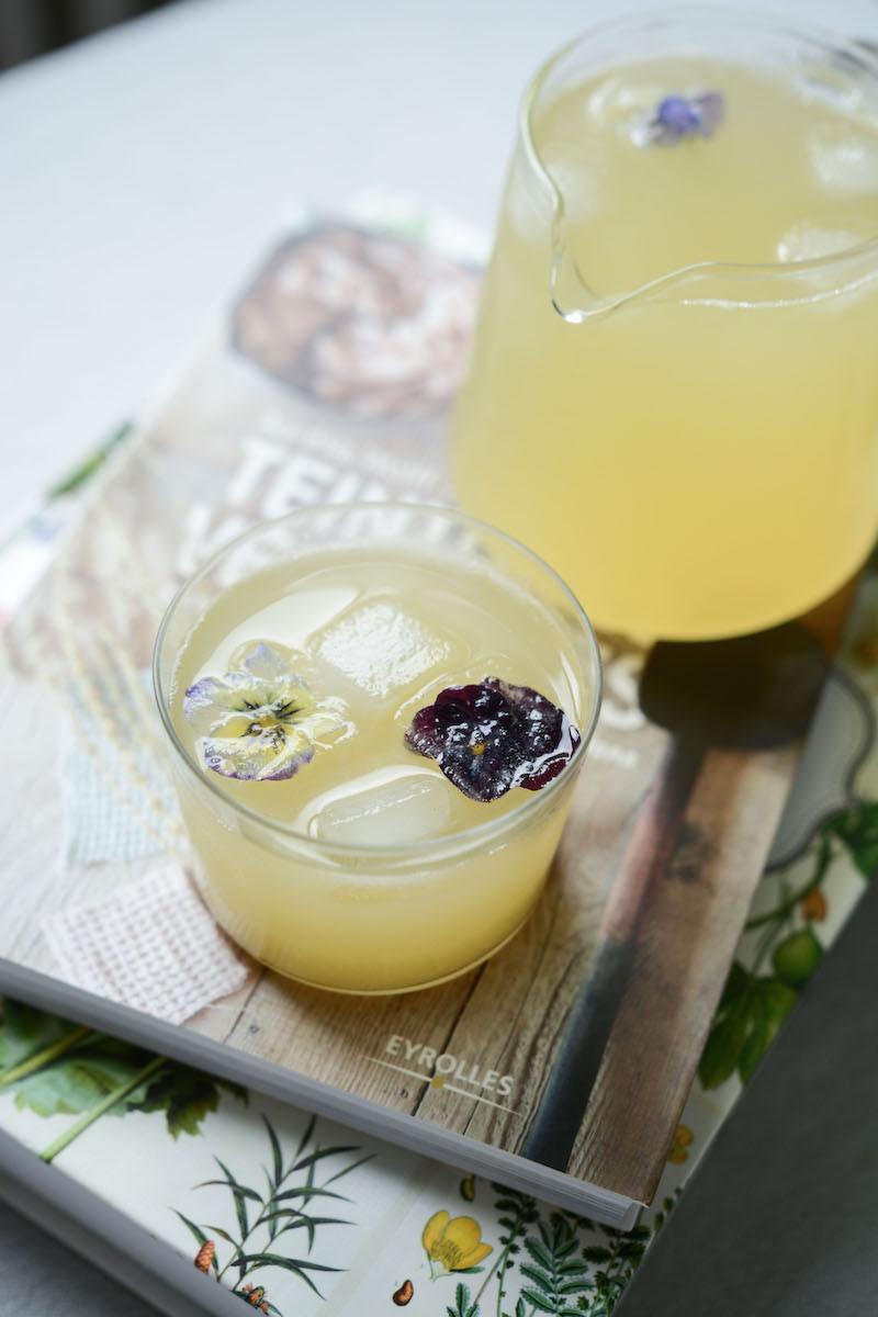 Limonade à la rhubarbe | Primesautier Traiteur vegan