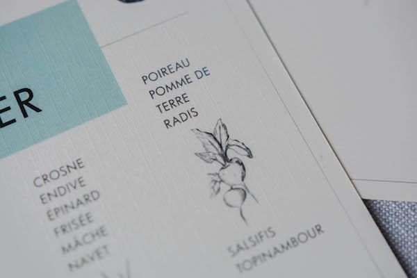 Calendrier des fruits et légumes imprimé
