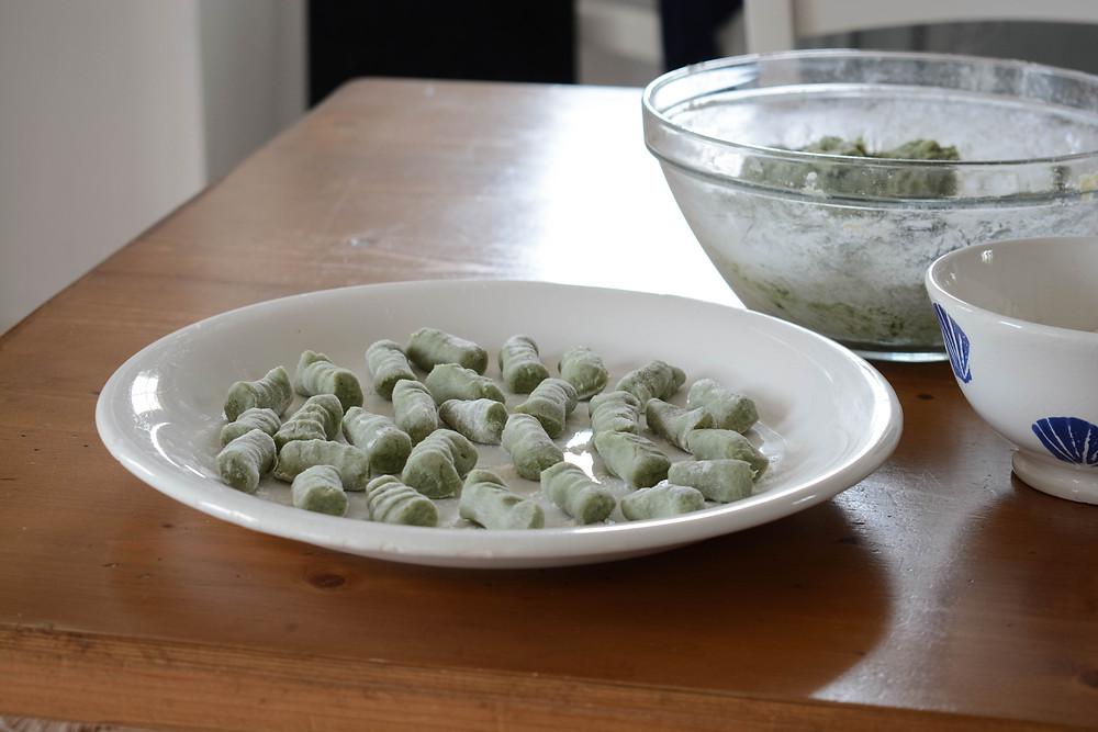 Gnocchi vegan chlorelle. Primesautier Traiteur Végétal