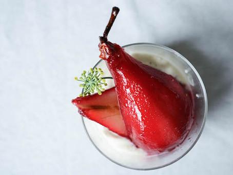 - Recette - poires pochées à l'hibiscus