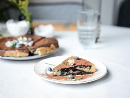 - Recette - gâteau vegan romarin, chocolat, myrtilles