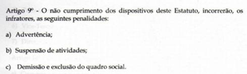 Regulamento da Abanfare - Art. 9