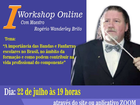 I Workshop Online com Rogério Wanderley Brito