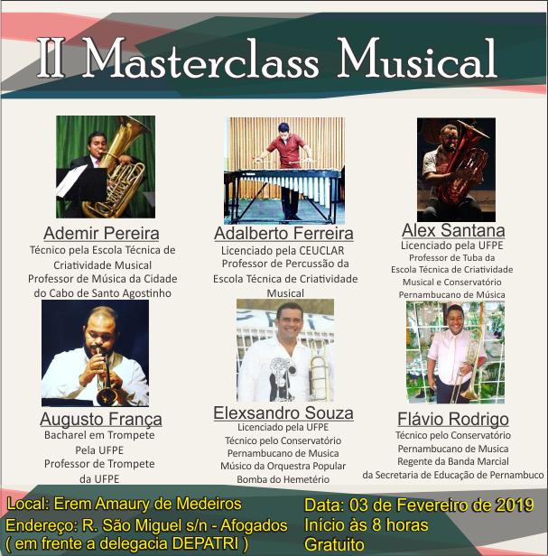 II Masterclass Musical | Erem Amaury de Medeiros