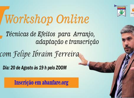 Workshop Online de Técnicas de efeitos para Arranjo,   adaptação e transcrição