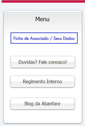 Menu do site da Abanfare, Abanfare, Bandas e Fanfarras de Pernambuco