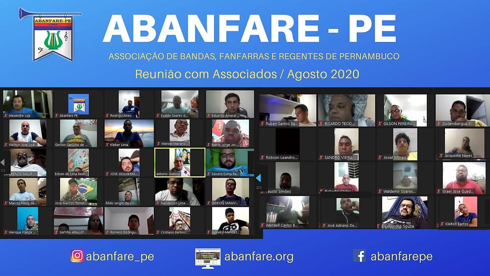 Abanfare, Reunião, Associados, Bandas e Fanfarras de Pernambuco