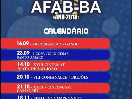 Calendário da AFAB-BA