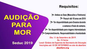 Inscrição Banda da Secretaria de Educação 2019