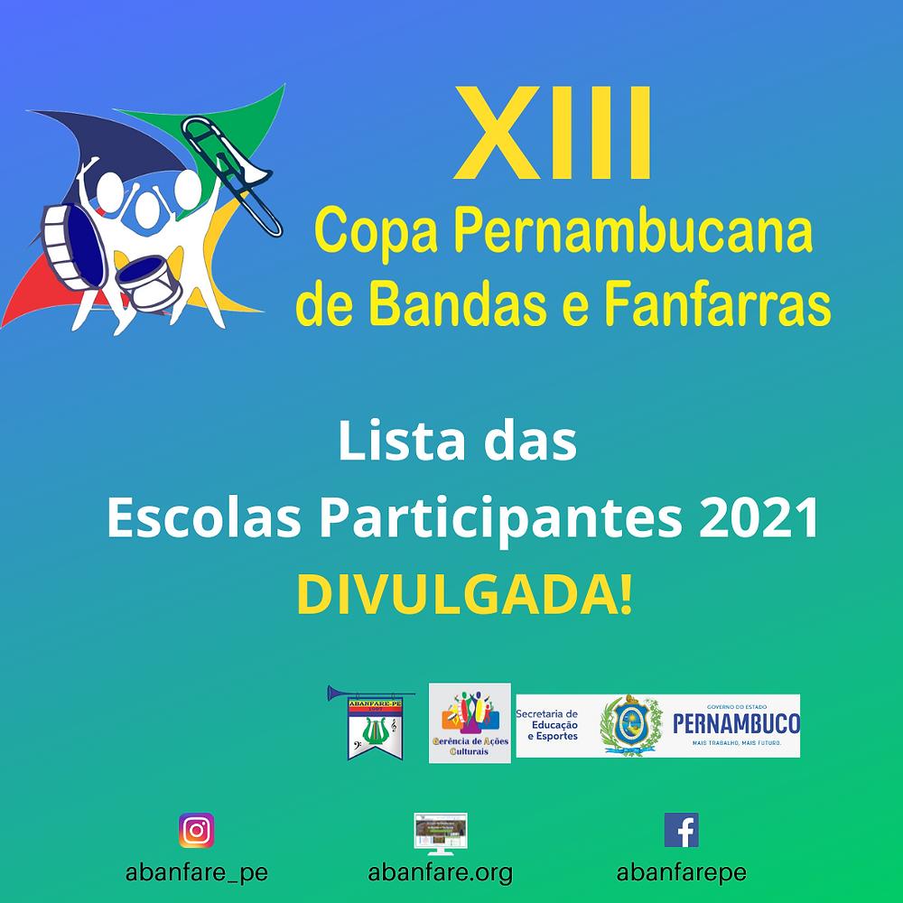 Escola Cadastrada na Copa Pernambucana - Abanfare 2021