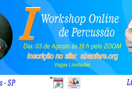 I Workshop Online de Percussão