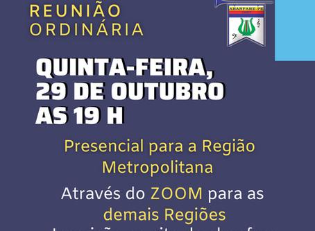 Reunião Outubro 2020