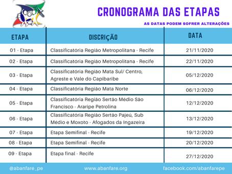 Lista das Escolas e Cronograma das Etapas 2020 - Atualizado