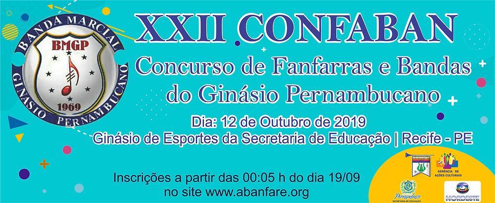 CONFABAN - CONCURSO DE FANFARRAS E BANDAS DO GINASIO PERNAMBUCANO