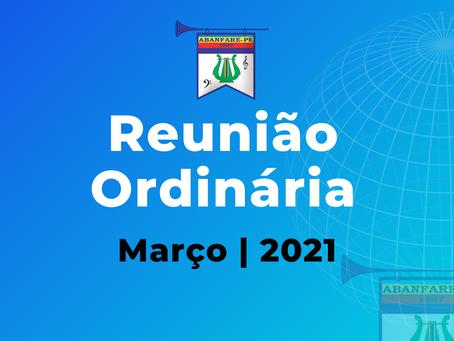 Reunião para Associados   Março 2021