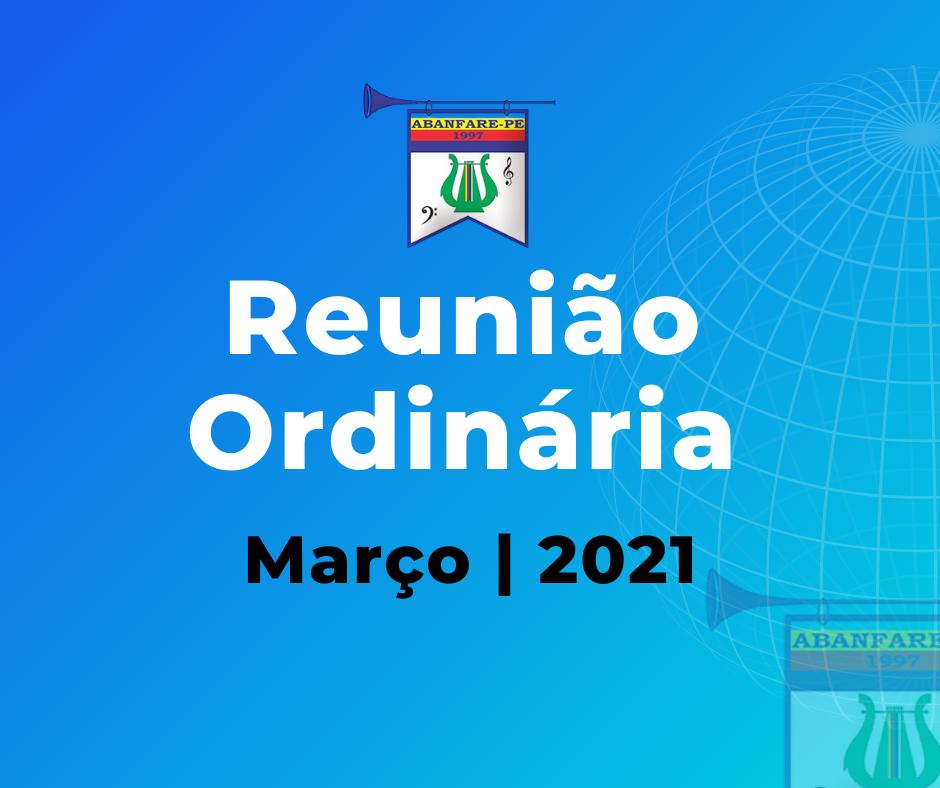 Reunião Março 2021, Abanfare, bandas e fanfarras pernambuco