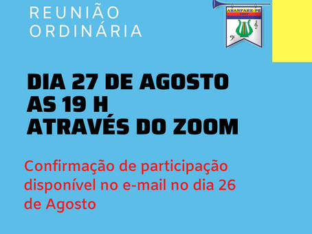 Reunião Ordinária Agosto/2020